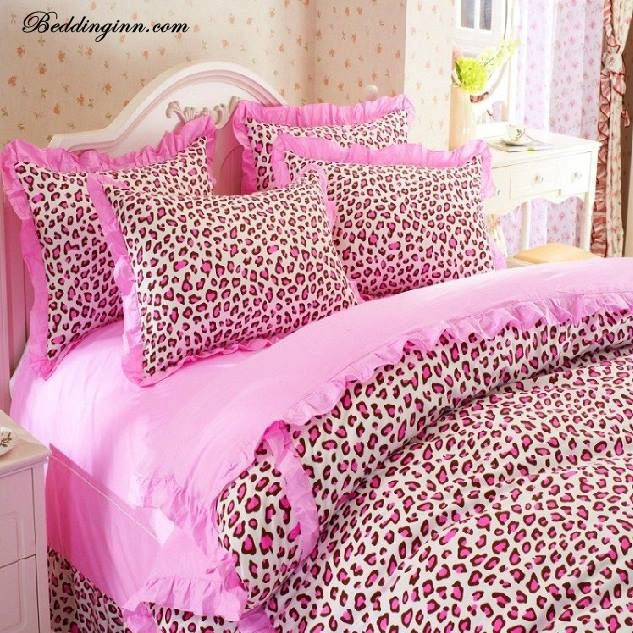 pink cheetah print bedroom photo - 5