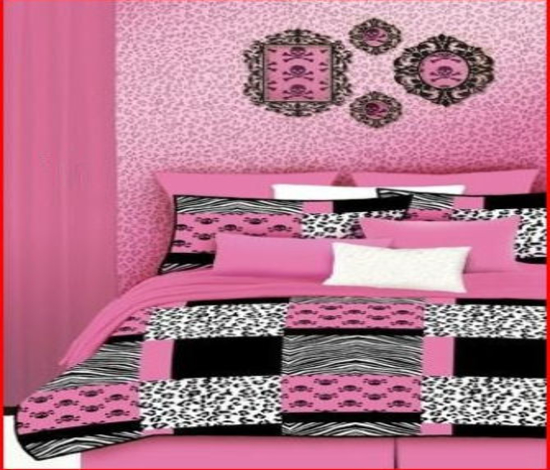 pink leopard print bedroom accessories photo - 6