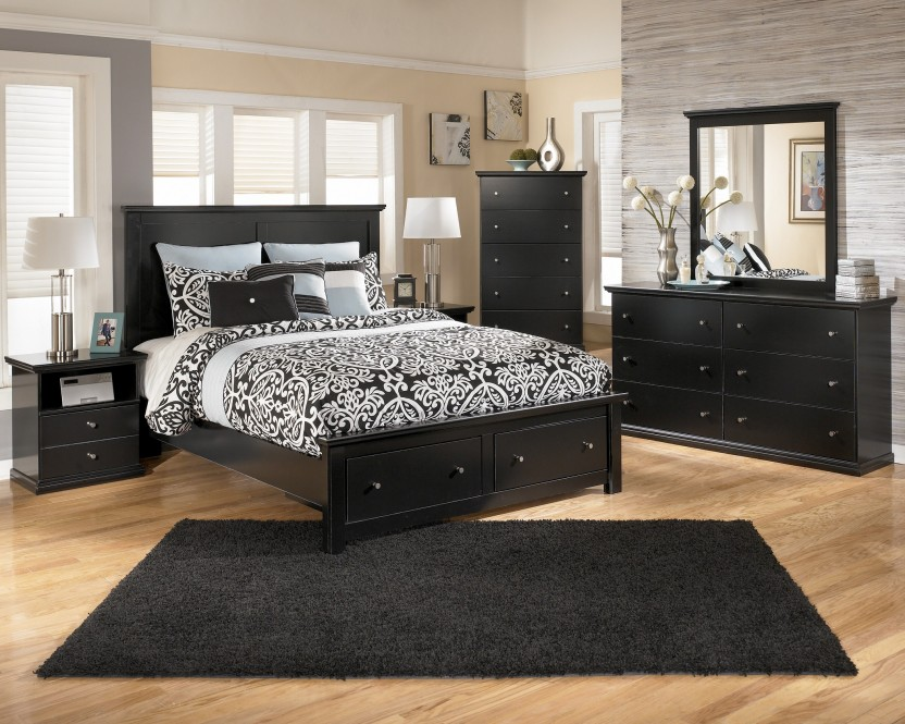 quality black bedroom furniture photo - 1