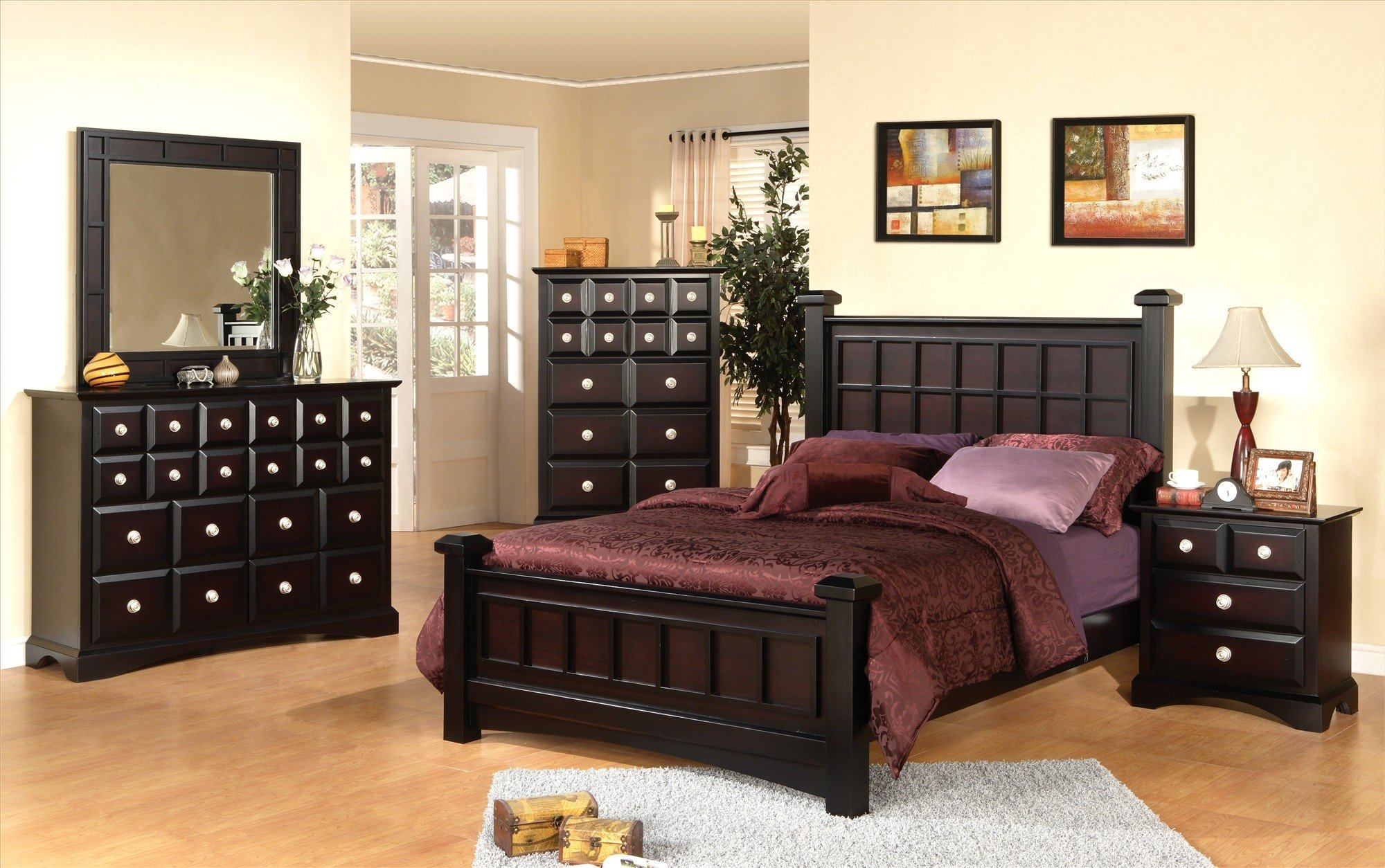 quality black bedroom furniture photo - 5