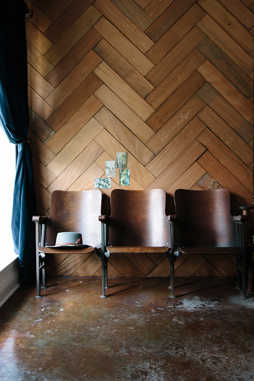 reclaimed wood wall design sponge photo - 7