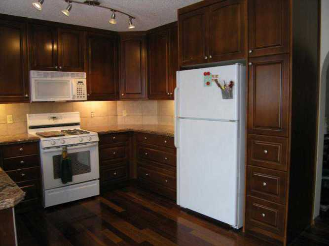 restaining kitchen cabinets gel stain photo - 1