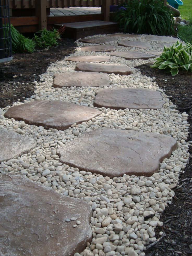 river rock garden edging photo - 1