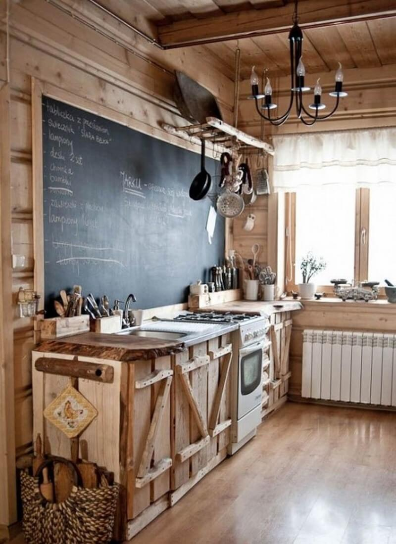 rustic country kitchen designs photo - 1