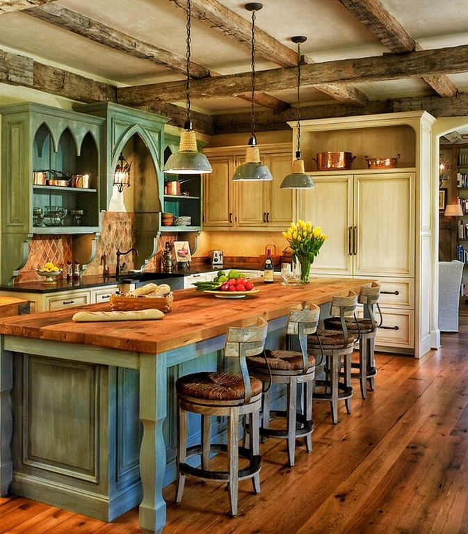 rustic country kitchen designs photo - 10