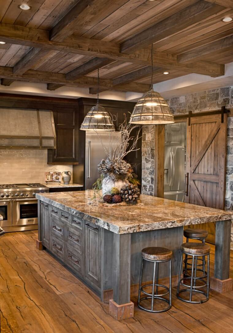 rustic country kitchen designs photo - 7