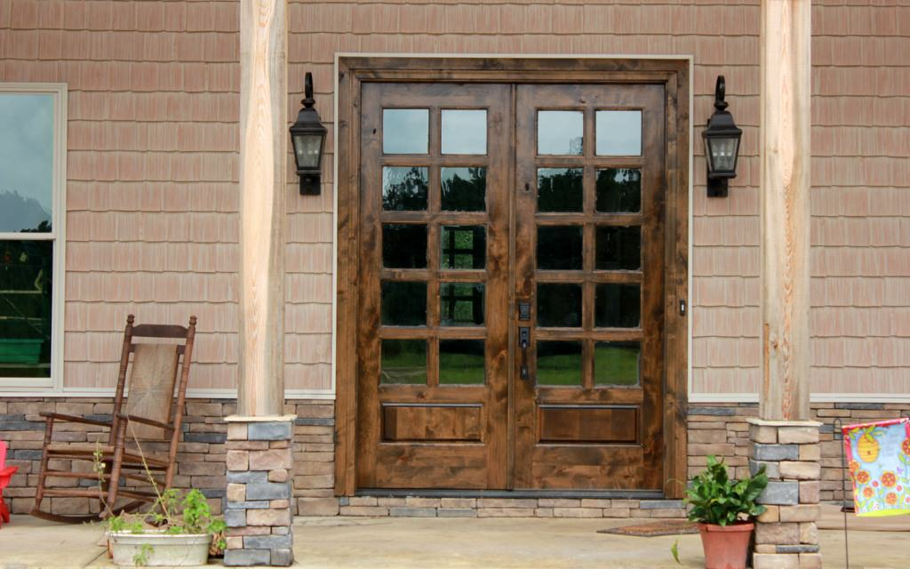 rustic french doors interior photo - 10
