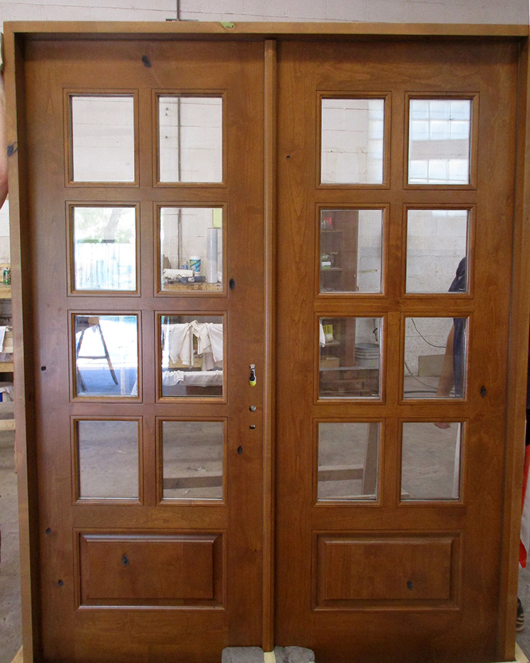 rustic french doors interior photo - 2