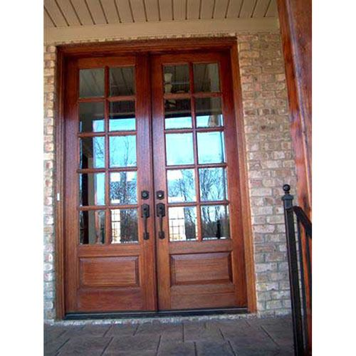 rustic french doors interior photo - 3
