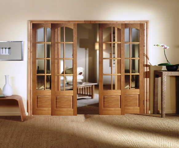 rustic french doors interior photo - 4