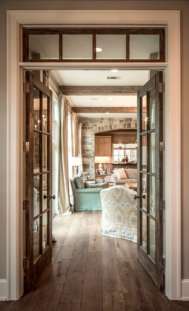 rustic french doors interior photo - 5