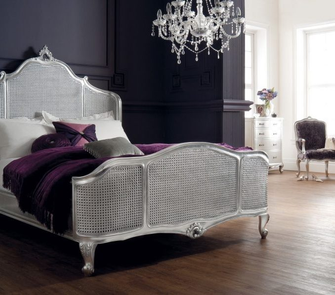 silver metal bedroom sets photo - 4