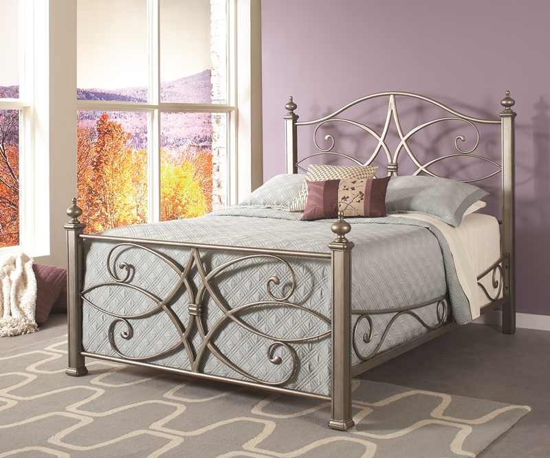 silver metal bedroom sets photo - 5