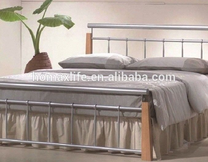 silver metal bedroom sets photo - 9