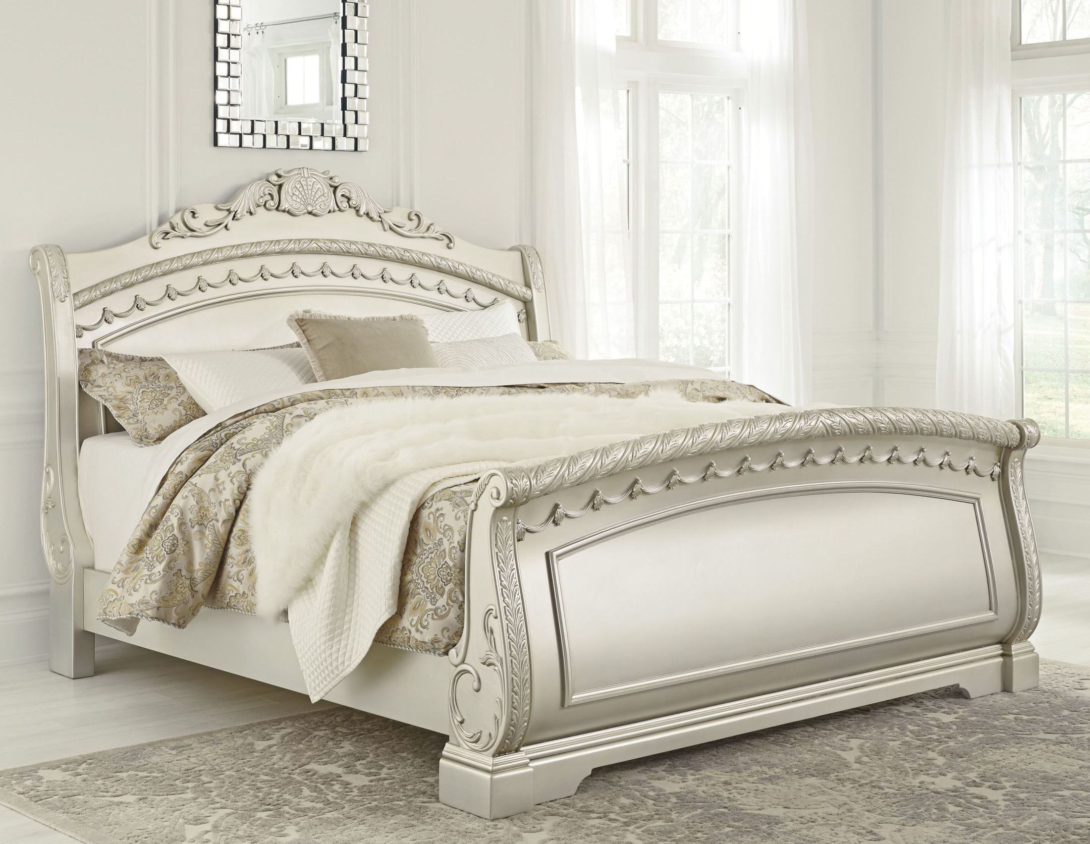 silver pearl bedroom set photo - 10