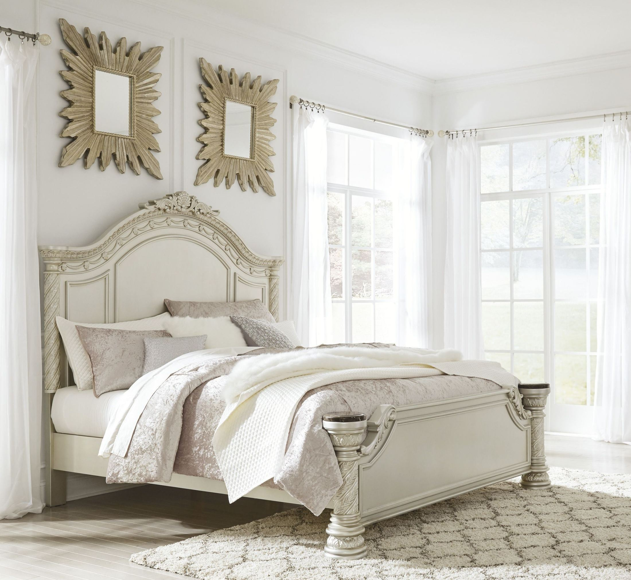 silver pearl bedroom set photo - 7