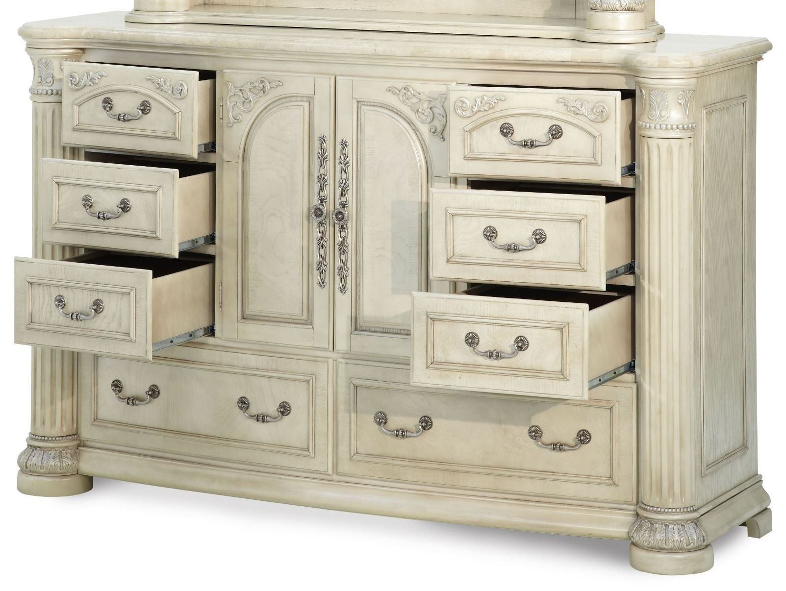 silver pearl bedroom set photo - 8