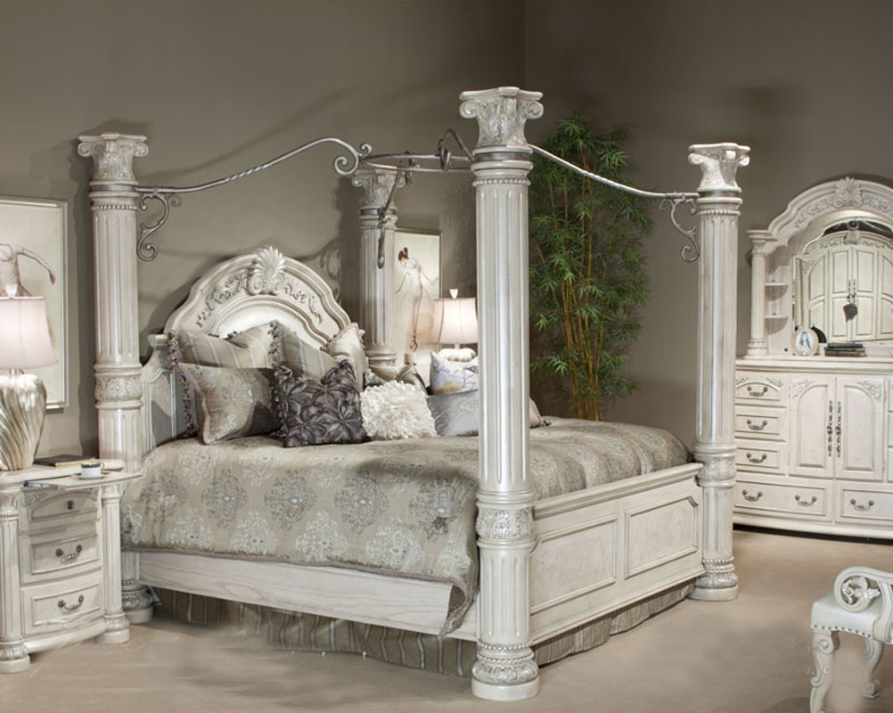 silver snow bedroom set photo - 1