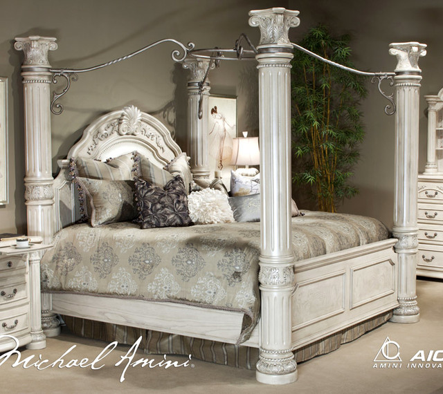 silver snow bedroom set photo - 5