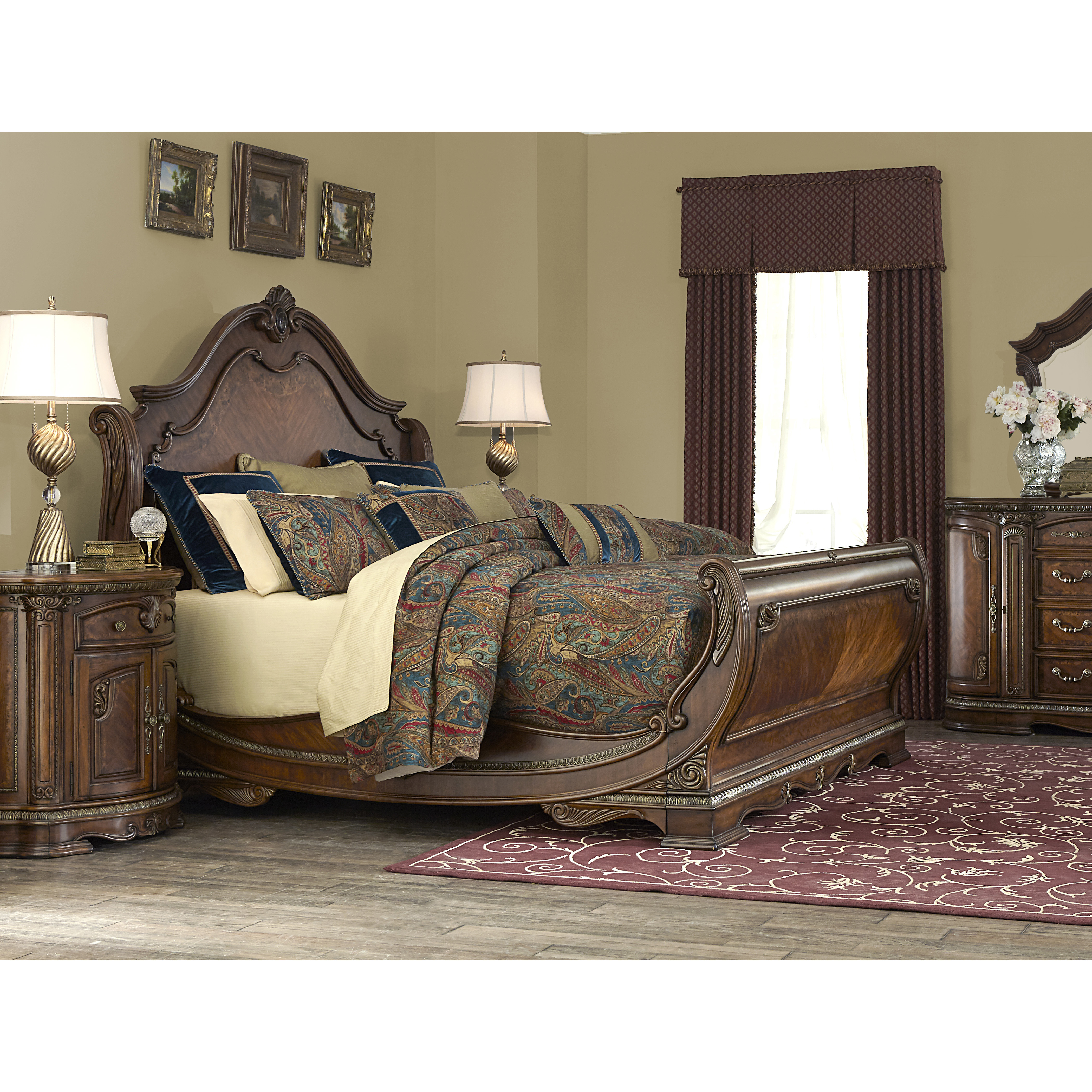 silver snow bedroom set photo - 9