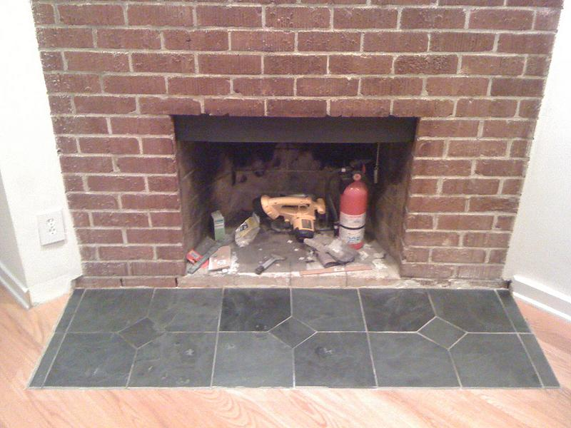 slate tiles for a hearth photo - 2