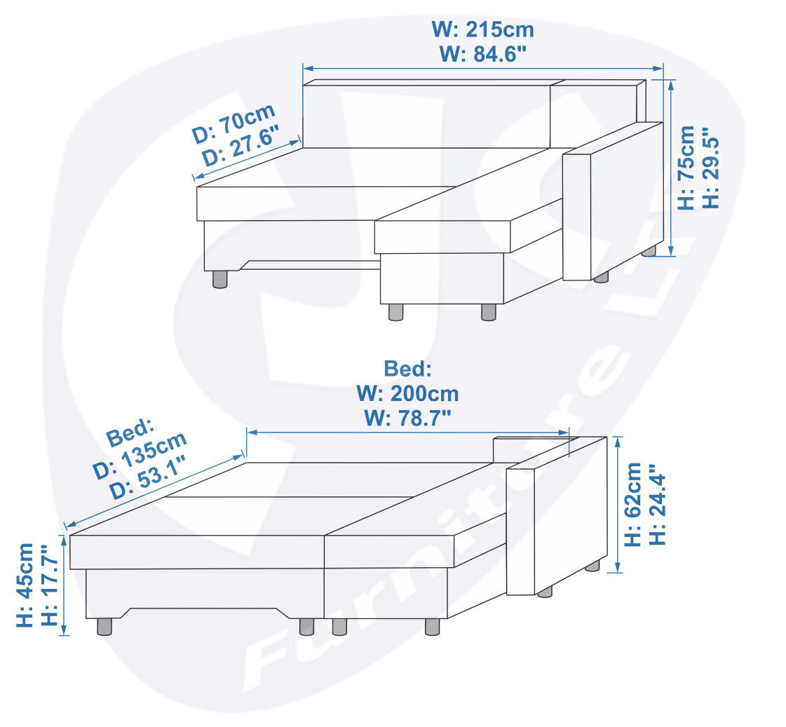 sleeper sofa dimensions photo - 3