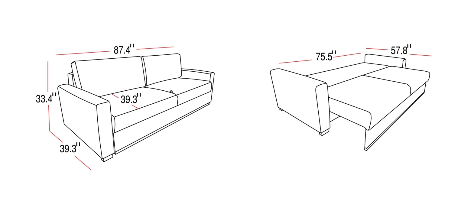 sleeper sofa dimensions photo - 6