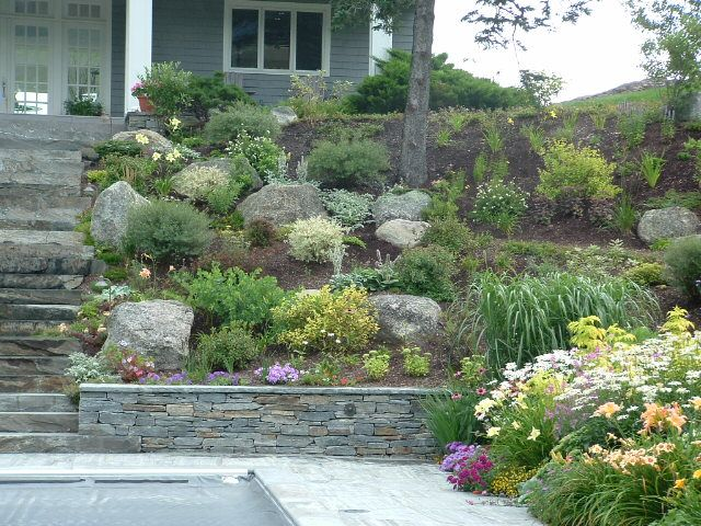 sloped rock garden ideas photo - 8