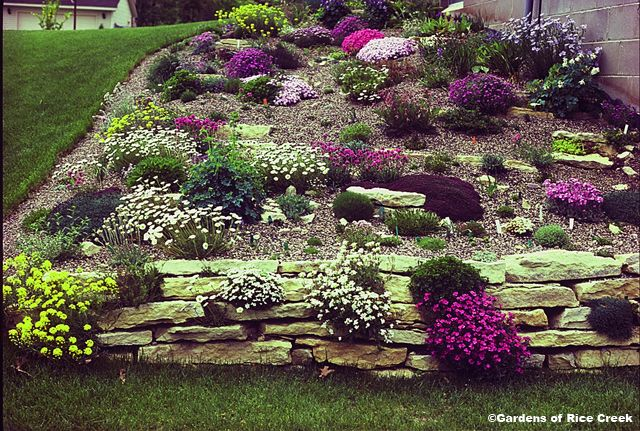 sloped rock garden ideas photo - 9