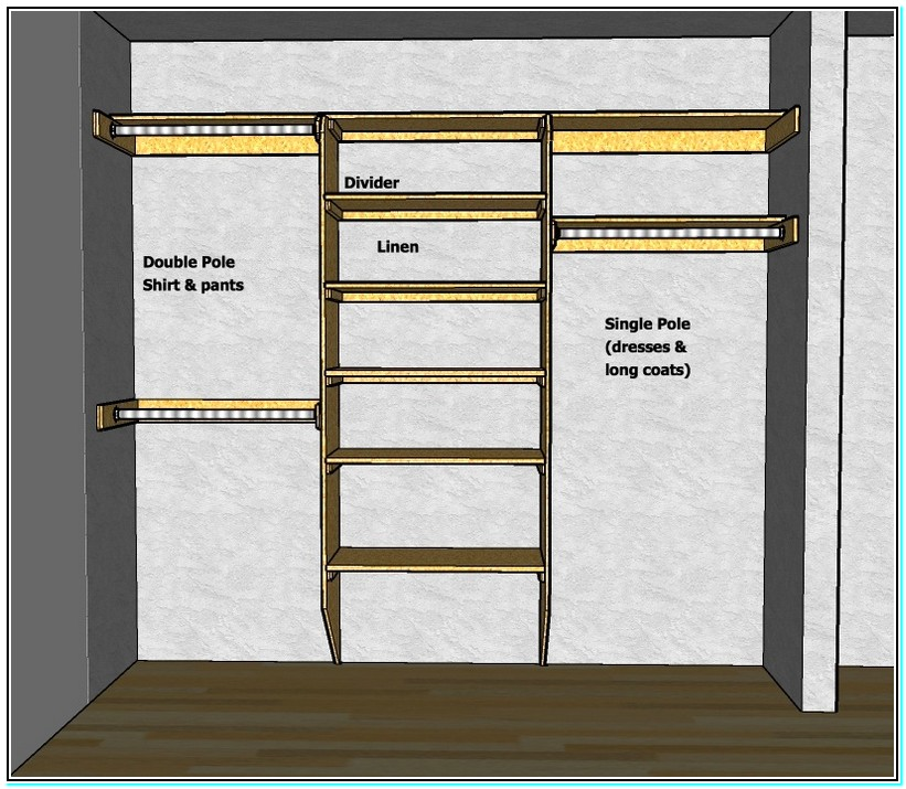 small walk in closet design layout photo - 2