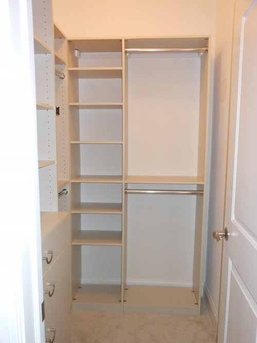 small walk in closet design layout photo - 4