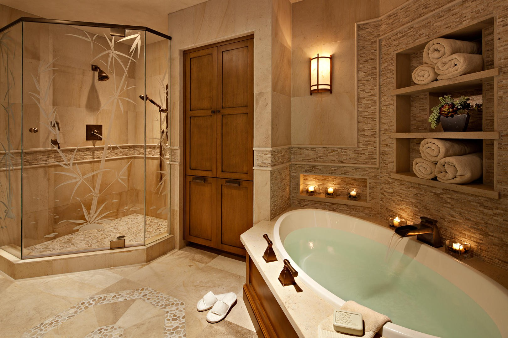 spa bathroom shower ideas photo - 1