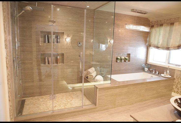 spa bathroom shower ideas photo - 8
