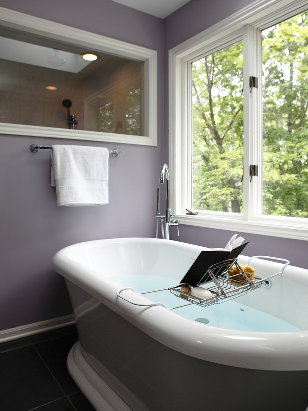 spa bathroom window treatments photo - 3