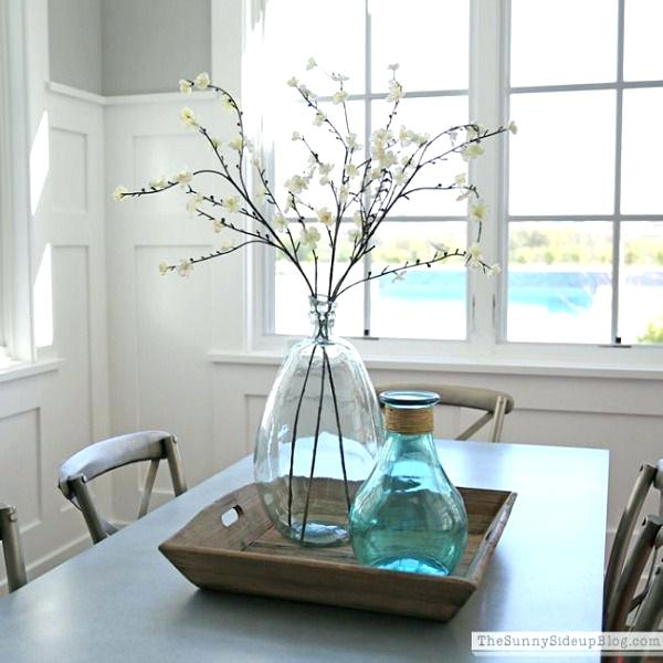 square dining table centerpiece photo - 9