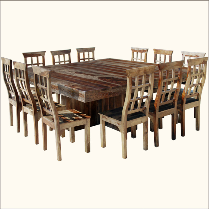 square dining table for 12 photo - 2