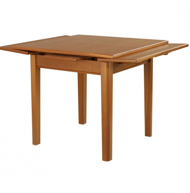 square dining table with leaves photo - 2