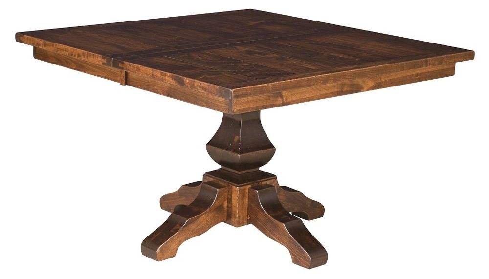 square dining table with leaves photo - 4