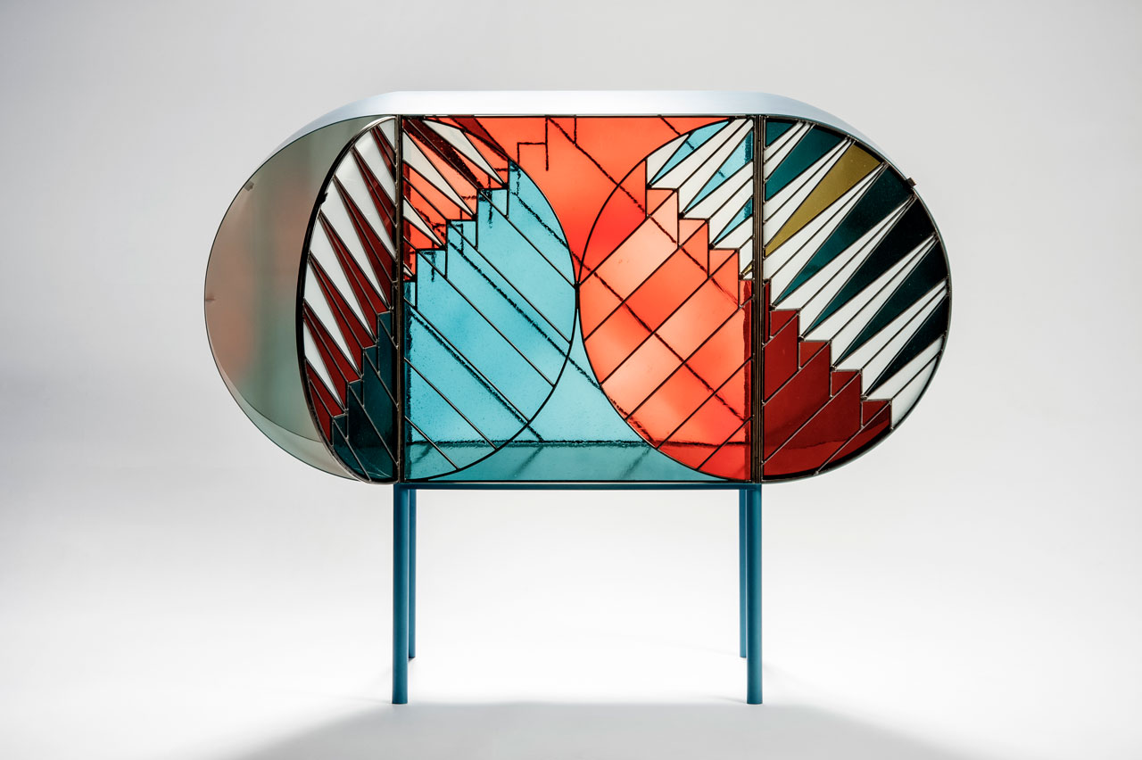 stained glass furniture design photo - 1