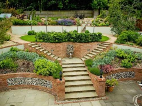 steeply sloping garden design ideas photo - 3