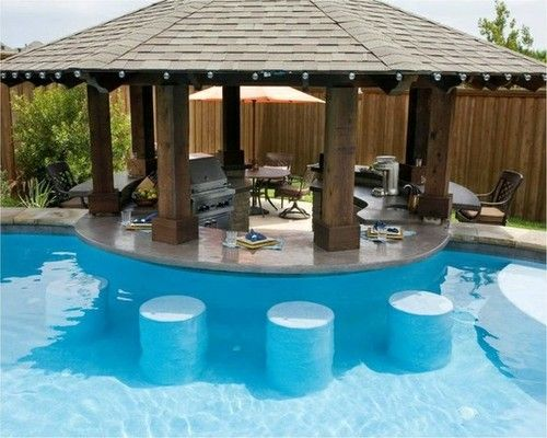 swimming pool designs with bar photo - 2