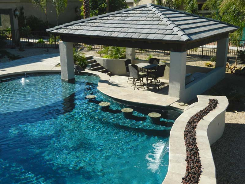 swimming pool designs with bar photo - 7