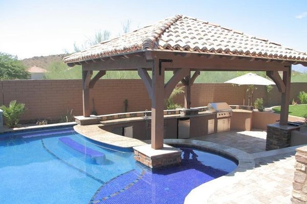 swimming pool designs with bar photo - 8