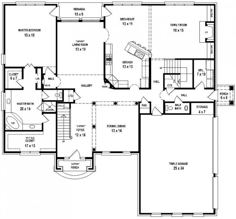 traditional 4 bedroom house plans photo - 10