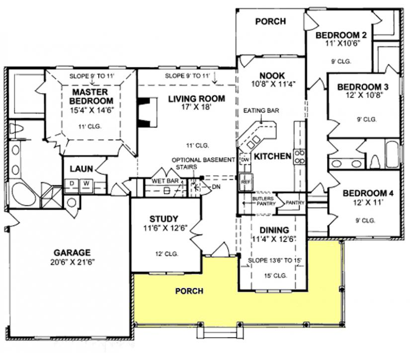 traditional 4 bedroom house plans photo - 8