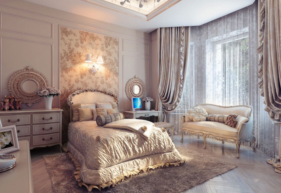 traditional bedroom decorating photo - 3