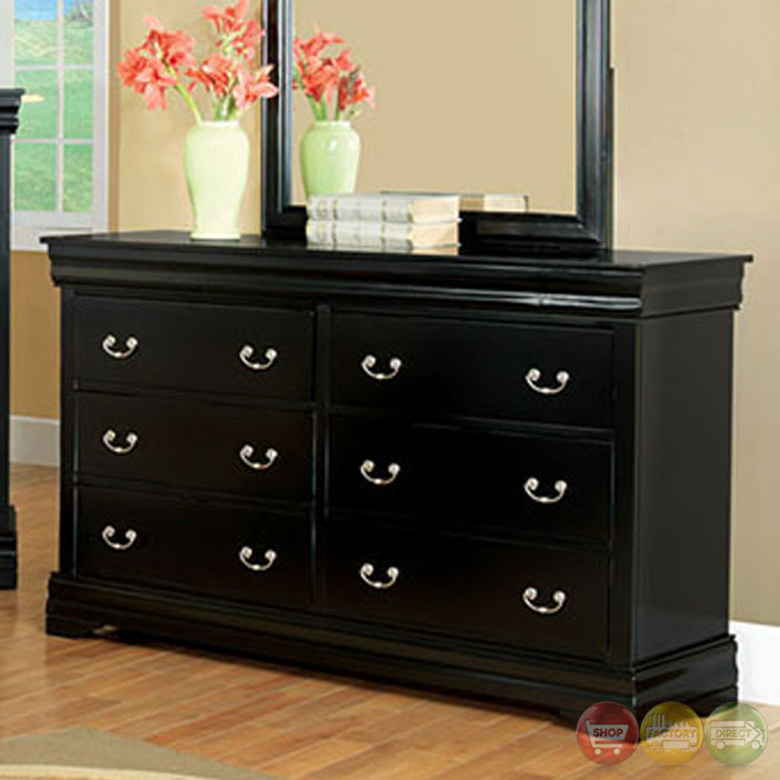 traditional black bedroom furniture photo - 10