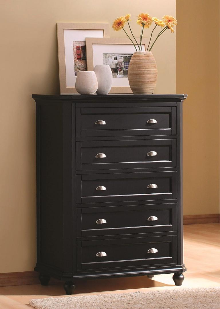 traditional black bedroom furniture photo - 2