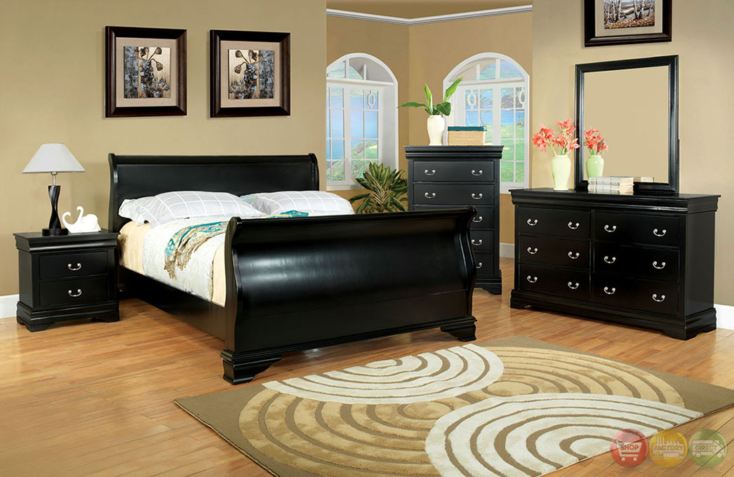 traditional black bedroom furniture photo - 4