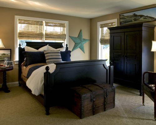 traditional black bedroom furniture photo - 6